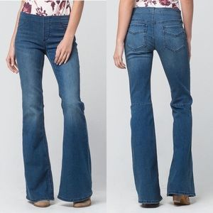 Free People Pull On Kick Flare Jeans